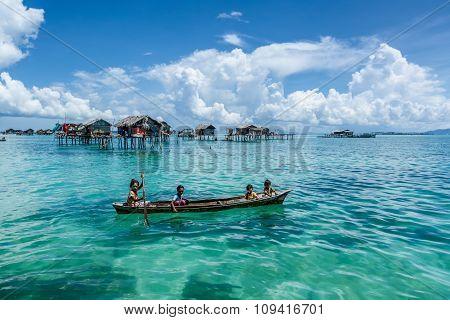 Sea Gypsies Life in Sabah, Malaysia