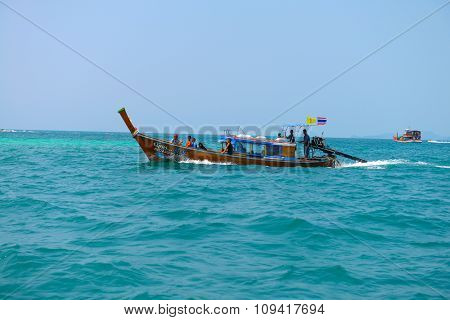 Tourist Boat In The Andaman Sea.