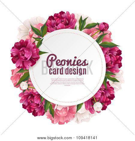 Peony Frame Card Design