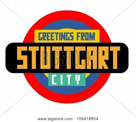 Stuttgart in germany is Beautiful city to visit on holiday, vector cartoon illustration