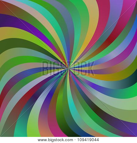 Multicolor abstract spiral ray design background