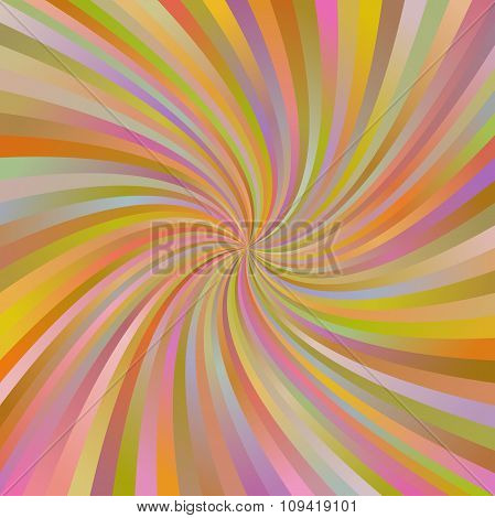 Orange abstract multicolor spiral ray background