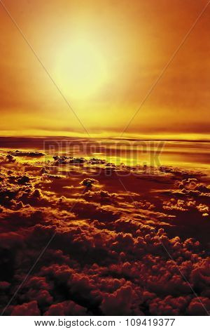 clouds with orange tinting