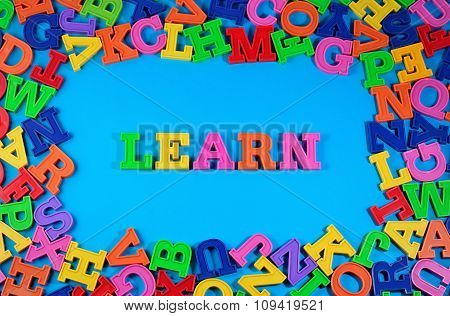 Learn Written By Plastic Colorful Letters