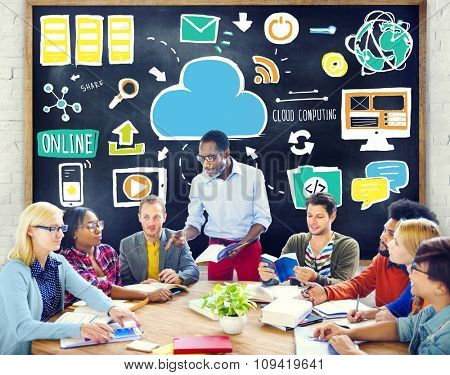 Diversity People Cloud Computing Brainstorming Learning Concept