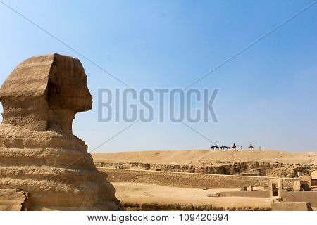 Profile of the Great Sphinx in Giza