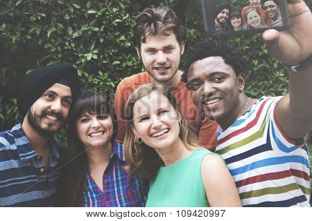 Friends Selfie Photography Happiness Smiling Concept