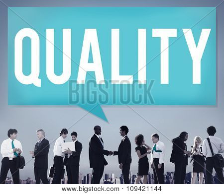 Quality Guarantee Value Grade Satisfaction Concept