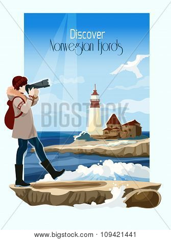 Seascape Background Illustration