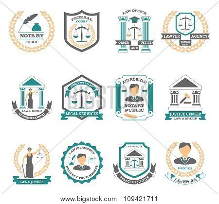 Lawyer Logo Set