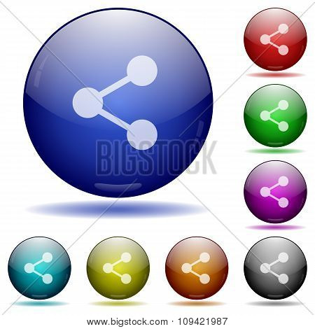 Share Glass Sphere Buttons