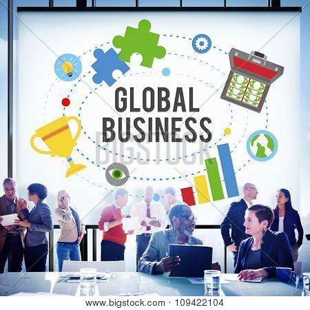 Global Business Start Up Launch Teamwork Online Concept