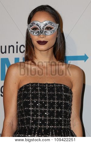LOS ANGELES - OCT 30:  Cara Santana at the 2nd Annual UNICEF Masquerade Ball at the Hollywood Forever on October 30, 2014 in Los Angeles, CA