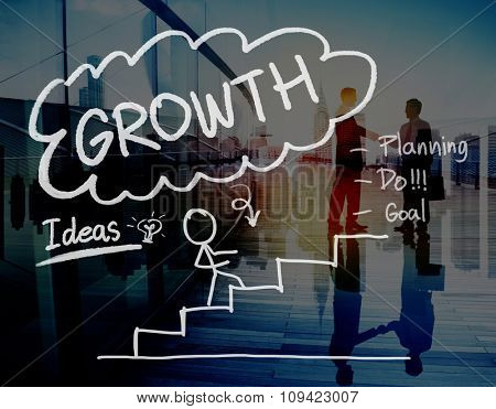 Growth Success Achievement Business Planning Concept