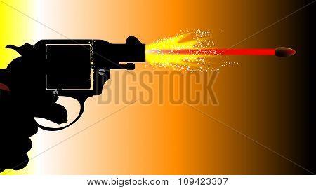 Firing Snub Nose Revolver