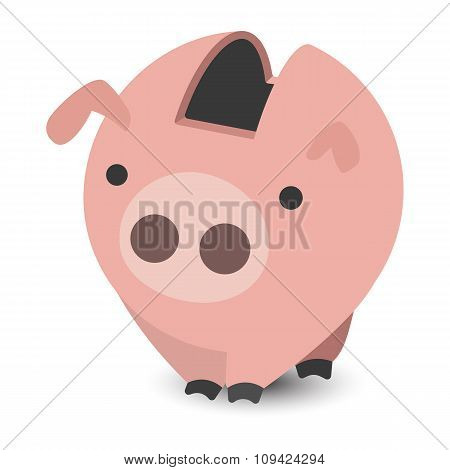 Piggy bank cartoon illustration