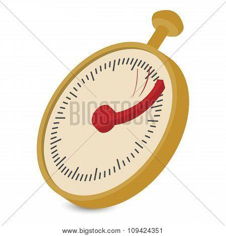 Analog stopwatch cartoon illustration