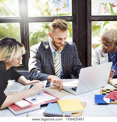 Business Brainstorming Colleague Communication Concept