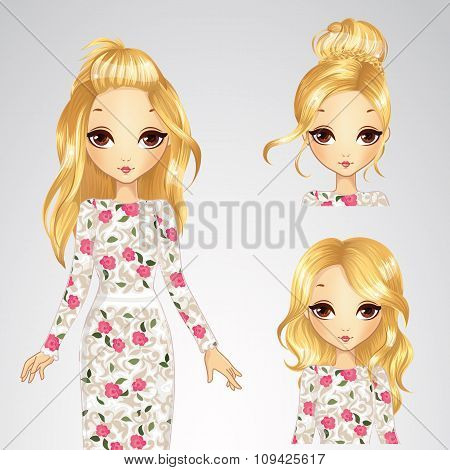 Collection Of Hairstyle Girl In White Rose Dress