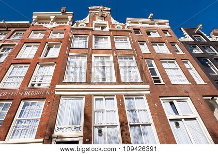 Amsterdam architecture in down town the  Netherlands.
