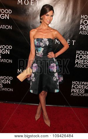 LOS ANGELES - AUG 13:  Egith van Dinther at the HFPA Hosts Annual Grants Banquet - Arrivals at the Beverly Wilshire Hotel on August 13, 2015 in Beverly Hills, CA