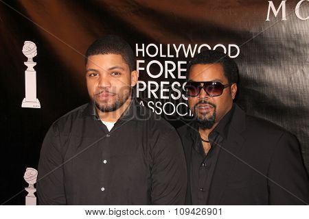 LOS ANGELES - AUG 13:  O'Shea Jackson Jr, Ice Cube at the HFPA Hosts Annual Grants Banquet - Arrivals at the Beverly Wilshire Hotel on August 13, 2015 in Beverly Hills, CA