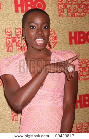 LOS ANGELES - JAN 12:  Danai Gurira at the HBO 2014 Golden Globe Party at the Beverly Hilton Hotel on January 12, 2014 in Beverly Hills, CA