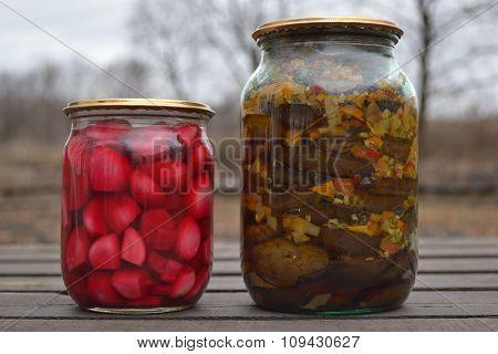 jar of delicious garlic in a sauce