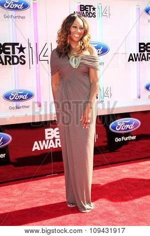 LOS ANGELES - JUN 29:  Yolanda Adams at the 2014 BET Awards - Arrivals at the Nokia Theater at LA Live on June 29, 2014 in Los Angeles, CA