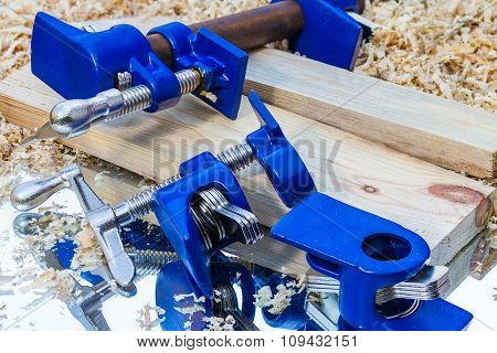 Dark Blue Pipe Clamp
