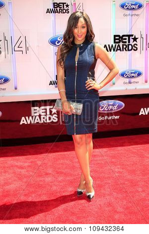 LOS ANGELES - JUN 29:  Tamera Mowry-Housley at the 2014 BET Awards - Arrivals at the Nokia Theater at LA Live on June 29, 2014 in Los Angeles, CA