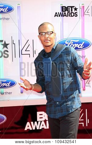 LOS ANGELES - JUN 29:  TI at the 2014 BET Awards - Arrivals at the Nokia Theater at LA Live on June 29, 2014 in Los Angeles, CA