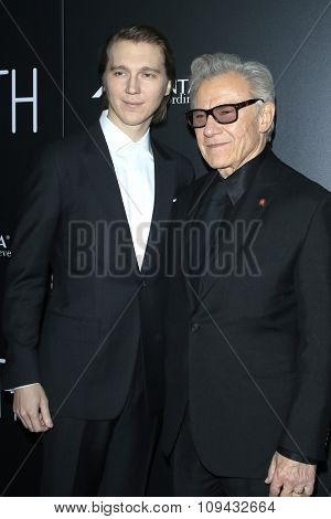 LOS ANGELES - NOV 17:  Paul Dano, Harvey Keitel at the