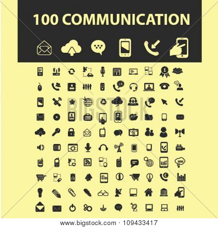 communication, connection, network  icons, signs vector concept set for infographics, mobile, website, application