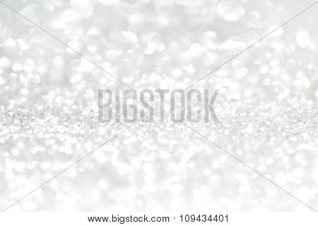 Silver glitter with copy space