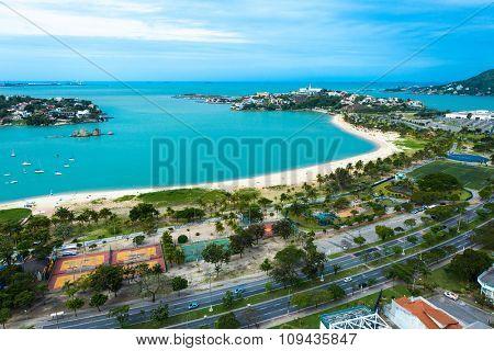 Canto Beach (Praia do Canto) in Vitoria, Espirito Santo, Brazil