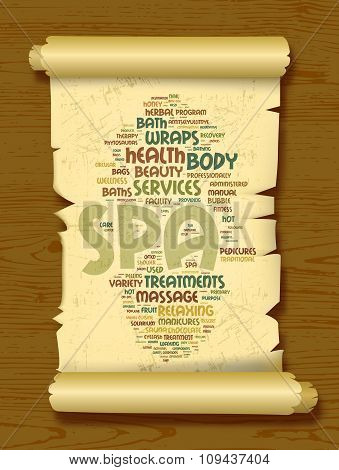 Spa word cloud vector illustration