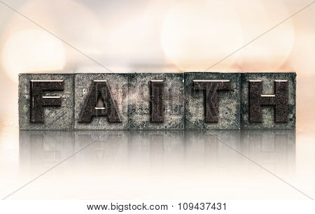 Faith Concept Vintage Letterpress Type
