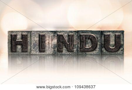 Hindu Concept Vintage Letterpress Type