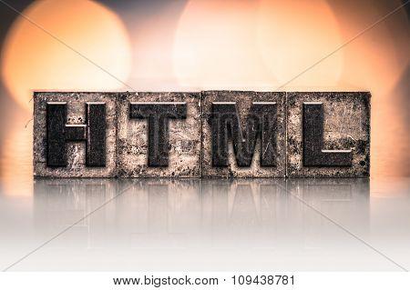 Html Concept Vintage Letterpress Type