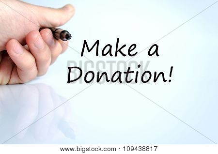 Make A Donation Text Concept