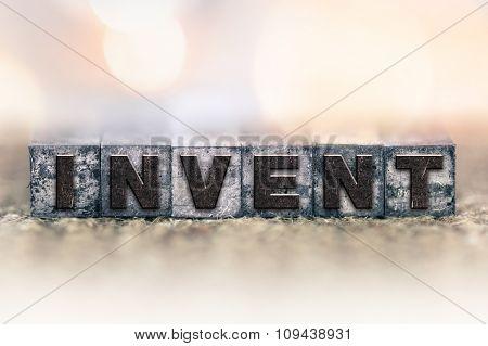 Invent Concept Vintage Letterpress Type