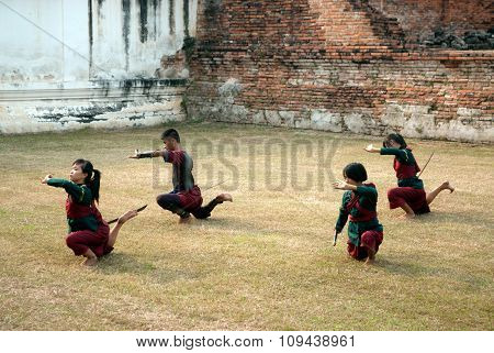 Traditional Fence Dance For Teachers Worship.