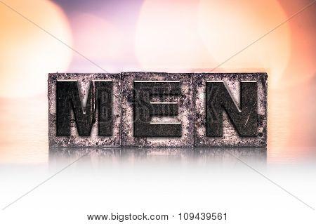 Men Concept Vintage Letterpress Type