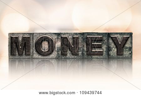 Money Concept Vintage Letterpress Type