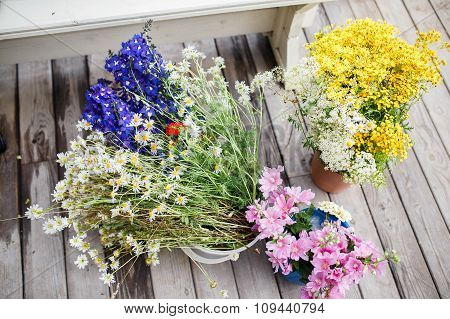 Wildflowers In Bouquets.