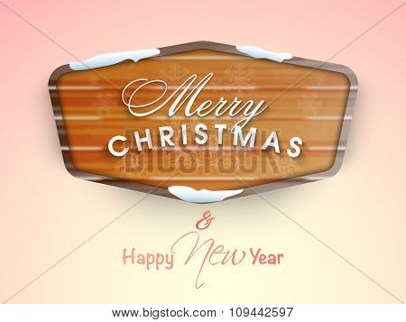 Elegant greeting card design for Merry Christmas and Happy New Year celebration.