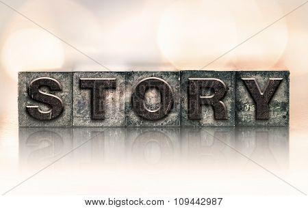 Story Concept Vintage Letterpress Type