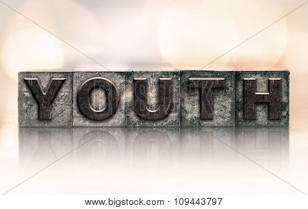 Youth Concept Vintage Letterpress Type