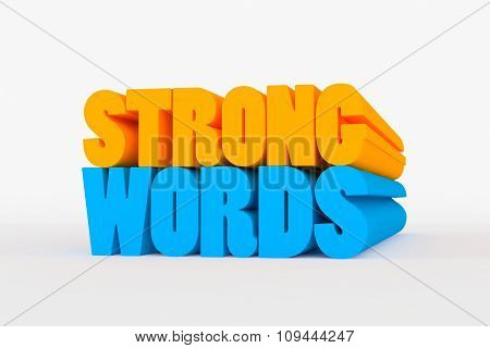 Big 3D Bold Text - Strong Words
